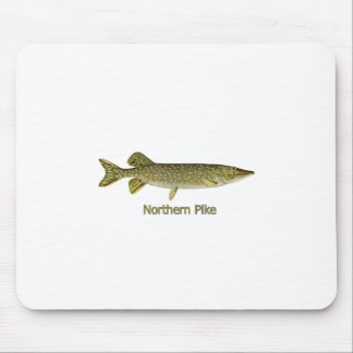 Northern Pike Art (titled) Mouse Pad