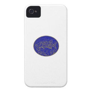 Northern Pike Fish Oval Mono Line iPhone 4 Case-Mate Case