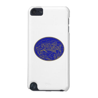 Northern Pike Fish Oval Mono Line iPod Touch 5G Case