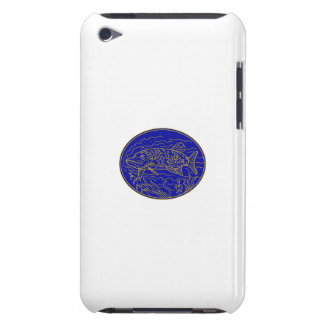 Northern Pike Fish Oval Mono Line iPod Touch Case
