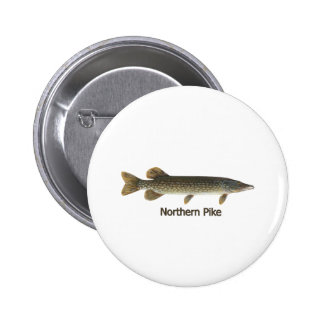 Northern Pike titled Pinback Buttons