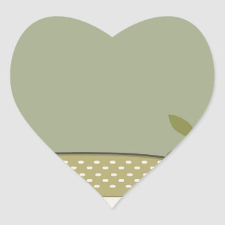 Northern Pike Vector Heart Sticker