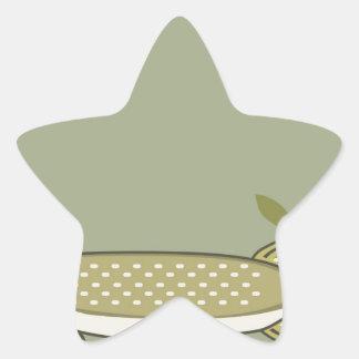 Northern Pike Vector Star Sticker