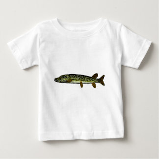 Northern Pike, woodcut, 1833 Baby T-Shirt