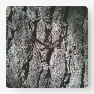Northern Pine Bark Wall Clock