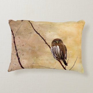 Northern Pygmy Owl Accent Pillow
