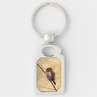 Northern Pygmy Owl Keychain