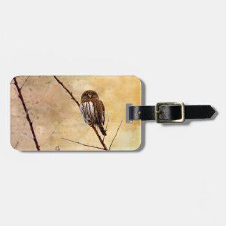 Northern Pygmy Owl Luggage Tag