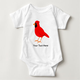 Northern Red Cardinal Bird Baby Bodysuit