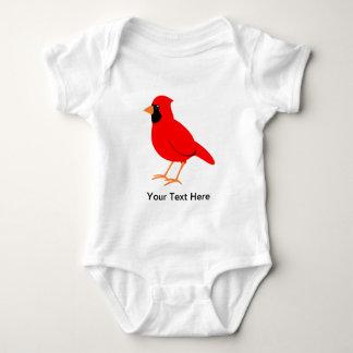 Northern Red Cardinal Bird Baby Bodysuit