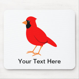 Northern Red Cardinal Bird Mouse Pad