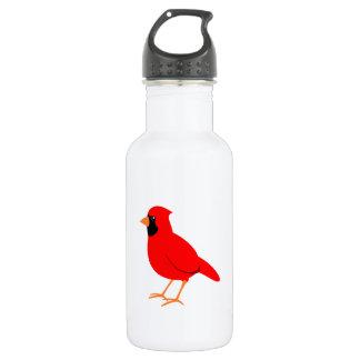 Northern Red Cardinal Bird Water Bottle