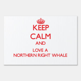 Northern Right Whale Lawn Sign
