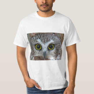 Northern Saw-whet Owl Close-Up T Shirt