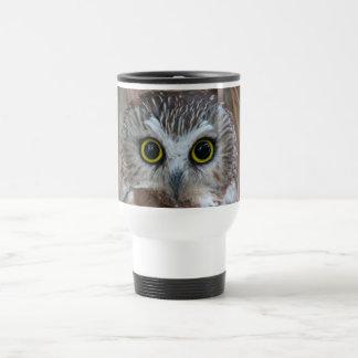 Northern Saw-whet Owl Close-Up Travel Mug