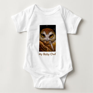 NORTHERN SAW-WHET OWL, My Baby Owl Tshirt