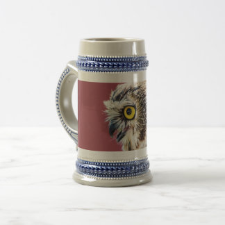 Northern Saw-Whet Owl Portrait Beer Stein