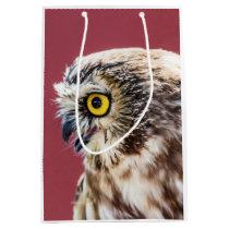 Northern Saw-Whet Owl Portrait Medium Gift Bag