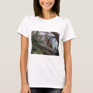 Northern Saw-Whet Owl with Huge Eyes T-Shirt