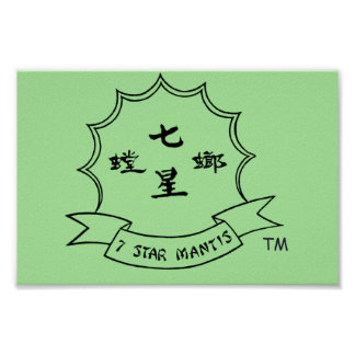 Northern Shaolin 7 Star Praying Mantis Poster 2