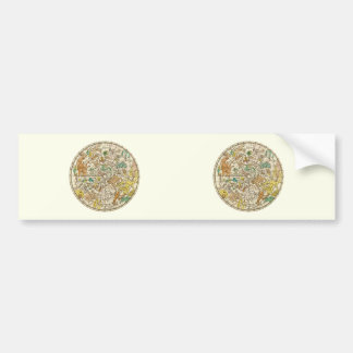 Northern Sky Star Chart and Constellations Map Car Bumper Sticker