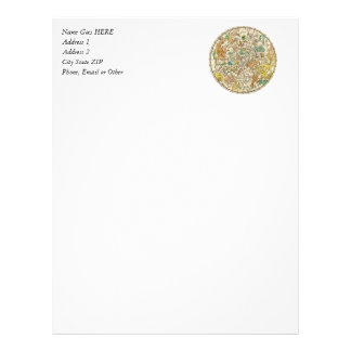 Northern Sky Star Chart and Constellations Map Letterhead
