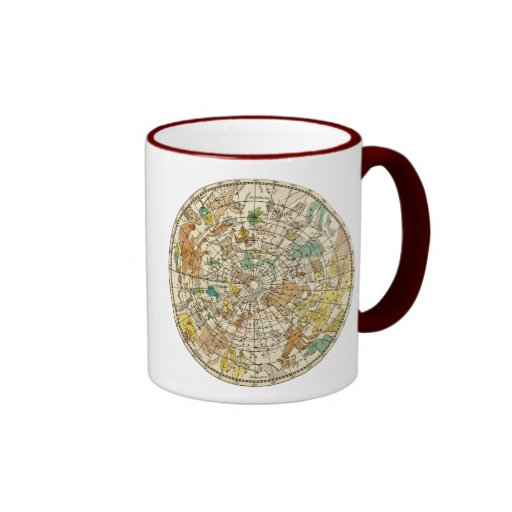 Northern Sky Star Chart and Constellations Map Ringer Coffee Mug