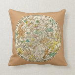 Northern Sky Star Chart and Constellations Map Pillows
