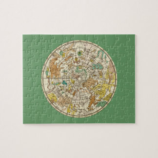 Northern Sky Star Chart and Constellations Map Puzzle