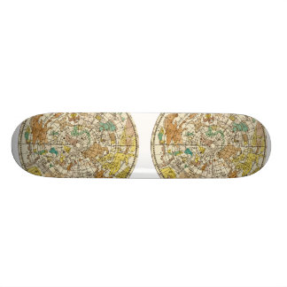 Northern Sky Star Chart and Constellations Map Skateboard