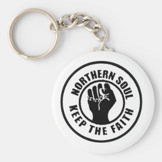 Northern Soul Basic Round Button Keychain