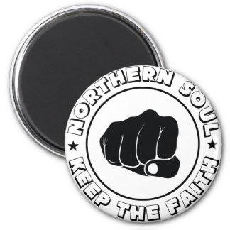 NORTHERN SOUL - KEEP THE FAITH DESIGN.png Fridge Magnets