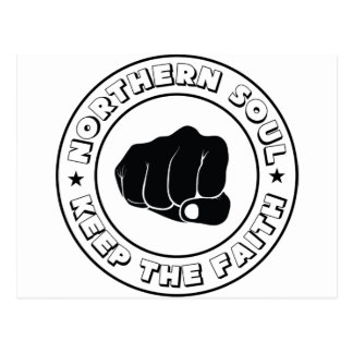 NORTHERN SOUL - KEEP THE FAITH DESIGN.png Postcard