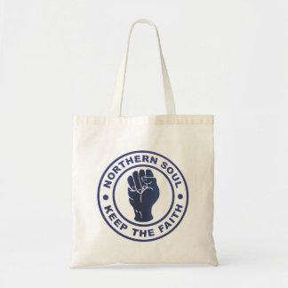 Northern Soul Keep The Faith & Fist Symbol Tote Bag