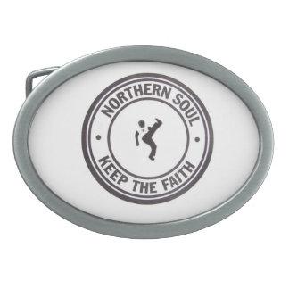 Northern Soul Keep The Faith Slogans & Dancer Oval Belt Buckles