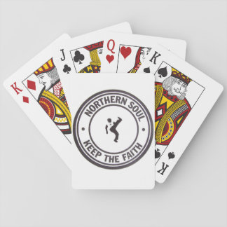 Northern Soul Keep The Faith Slogans & Dancer Playing Cards