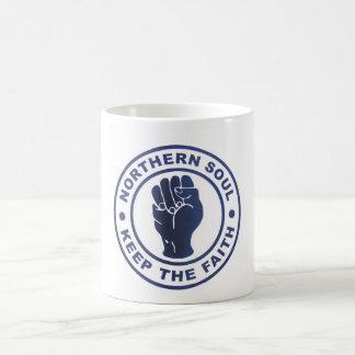 Northern Soul Keep The Faith Slogans & Fist Symbol Coffee Mug