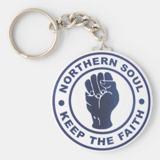 Northern Soul Keep The Faith Slogans & Fist Symbol Keychain