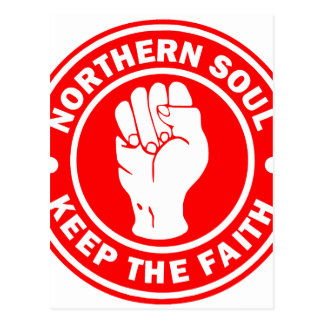 northern soul Logo Red Postcard