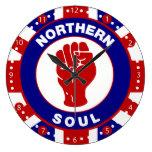 Northern Soul Mod target design on union Jack Clocks