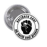 Northern Soul Patch Up North Soul Groove Button
