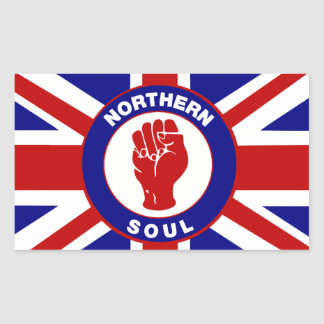 Northern Soul Union jack Rectangle Stickers