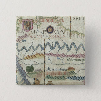 Northern South America, detail from world Pinback Button