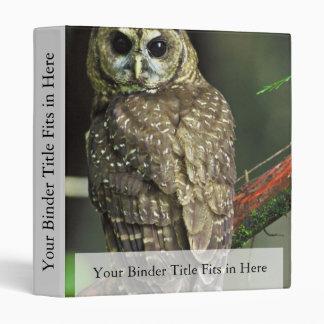 Northern Spotted Owl Vinyl Binder