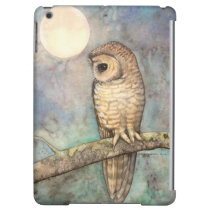 Northern Spotted Owl Watercolor Wildlife Art iPad Air Covers