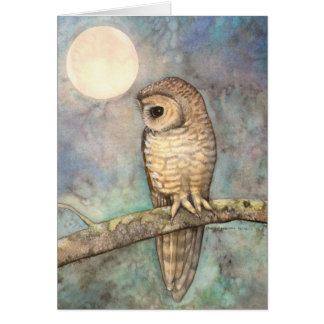 Northern Spotted Owl Wildlife Fine Art Card
