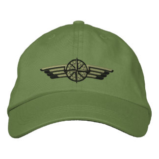 Northern Star Compass Pilot Wings Embroidered Baseball Hat