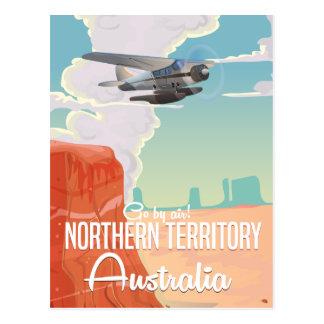northern territory Australia travel cartoon Postcard