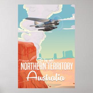 northern territory Australia travel cartoon Poster