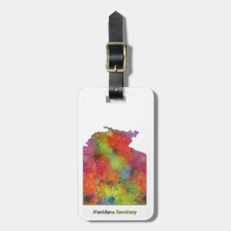 NORTHERN TERRITORY STATE MAP - Bag Tag